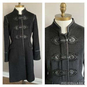 Vintage Elegant French Military Wool Tailored Coat